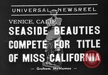 Image of beauty contest Venice Beach Los Angeles California USA, 1939, second 7 stock footage video 65675071714
