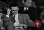 Image of Senate War Investigating Subcommittee hearings with Howard Hughes Washington DC USA, 1947, second 1 stock footage video 65675071722
