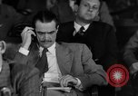 Image of Senate War Investigating Subcommittee hearings with Howard Hughes Washington DC USA, 1947, second 2 stock footage video 65675071722