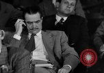 Image of Senate War Investigating Subcommittee hearings with Howard Hughes Washington DC USA, 1947, second 8 stock footage video 65675071722