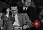 Image of Senate War Investigating Subcommittee hearings with Howard Hughes Washington DC USA, 1947, second 9 stock footage video 65675071722