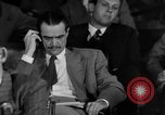 Image of Senate War Investigating Subcommittee hearings with Howard Hughes Washington DC USA, 1947, second 15 stock footage video 65675071722