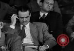 Image of Senate War Investigating Subcommittee hearings with Howard Hughes Washington DC USA, 1947, second 16 stock footage video 65675071722