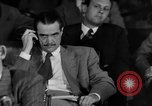 Image of Senate War Investigating Subcommittee hearings with Howard Hughes Washington DC USA, 1947, second 18 stock footage video 65675071722
