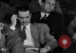 Image of Senate War Investigating Subcommittee hearings with Howard Hughes Washington DC USA, 1947, second 20 stock footage video 65675071722