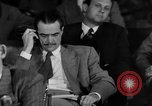 Image of Senate War Investigating Subcommittee hearings with Howard Hughes Washington DC USA, 1947, second 21 stock footage video 65675071722