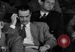 Image of Senate War Investigating Subcommittee hearings with Howard Hughes Washington DC USA, 1947, second 22 stock footage video 65675071722
