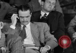 Image of Senate War Investigating Subcommittee hearings with Howard Hughes Washington DC USA, 1947, second 24 stock footage video 65675071722