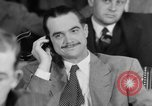 Image of Senate War Investigating Subcommittee hearings with Howard Hughes Washington DC USA, 1947, second 49 stock footage video 65675071722