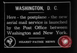 Image of President Woodrow Wilson at the first regular air mail service ceremon United States USA, 1918, second 1 stock footage video 65675071735