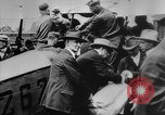 Image of President Woodrow Wilson at the first regular air mail service ceremon United States USA, 1918, second 22 stock footage video 65675071735