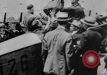 Image of President Woodrow Wilson at the first regular air mail service ceremon United States USA, 1918, second 26 stock footage video 65675071735