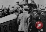 Image of President Woodrow Wilson at the first regular air mail service ceremon United States USA, 1918, second 27 stock footage video 65675071735