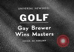 Image of Masters Golf Tournament Augusta Georgia USA, 1967, second 4 stock footage video 65675071761