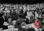 Image of President John F Kennedy attends opening baseball game at DC Stadium Washington DC USA, 1962, second 17 stock footage video 65675071771