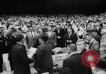 Image of President John F Kennedy attends opening baseball game at DC Stadium Washington DC USA, 1962, second 19 stock footage video 65675071771