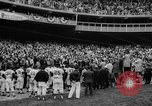 Image of President John F Kennedy attends opening baseball game at DC Stadium Washington DC USA, 1962, second 21 stock footage video 65675071771