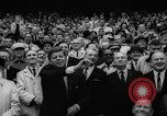 Image of President John F Kennedy attends opening baseball game at DC Stadium Washington DC USA, 1962, second 27 stock footage video 65675071771