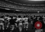Image of President John F Kennedy attends opening baseball game at DC Stadium Washington DC USA, 1962, second 30 stock footage video 65675071771