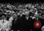 Image of President John F Kennedy attends opening baseball game at DC Stadium Washington DC USA, 1962, second 31 stock footage video 65675071771