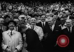 Image of President John F Kennedy attends opening baseball game at DC Stadium Washington DC USA, 1962, second 32 stock footage video 65675071771