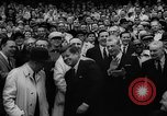 Image of President John F Kennedy attends opening baseball game at DC Stadium Washington DC USA, 1962, second 33 stock footage video 65675071771