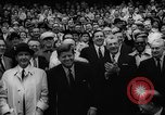 Image of President John F Kennedy attends opening baseball game at DC Stadium Washington DC USA, 1962, second 34 stock footage video 65675071771