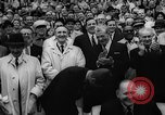 Image of President John F Kennedy attends opening baseball game at DC Stadium Washington DC USA, 1962, second 35 stock footage video 65675071771