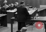 Image of war crimes trials Nuremberg Germany, 1947, second 15 stock footage video 65675071946