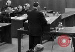 Image of war crimes trials Nuremberg Germany, 1947, second 20 stock footage video 65675071946