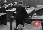 Image of war crimes trials Nuremberg Germany, 1947, second 40 stock footage video 65675071946