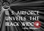 Image of Black Widow P-61 aircraft Hawthorne California USA, 1944, second 1 stock footage video 65675071975
