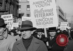 Image of American volunteers returning from Spanish Civil War New York City USA, 1938, second 30 stock footage video 65675071981