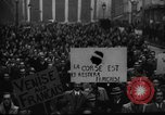 Image of students' protest rally Paris France, 1938, second 12 stock footage video 65675071982