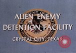 Image of Alien Enemy Detention facilities Crystal City Texas USA, 1943, second 27 stock footage video 65675072063