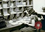 Image of US alien detention facility mail handling Crystal City Texas USA, 1943, second 39 stock footage video 65675072065