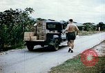 Image of alien detention facility food delivery Crystal City Texas USA, 1943, second 10 stock footage video 65675072066