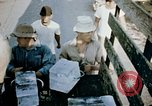 Image of alien detention facility food delivery Crystal City Texas USA, 1943, second 44 stock footage video 65675072066