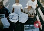 Image of alien detention facility food delivery Crystal City Texas USA, 1943, second 46 stock footage video 65675072066