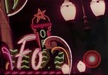 Image of neon signs of Las Vegas casinos and hotels Las Vegas Nevada USA, 1958, second 19 stock footage video 65675072081