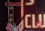 Image of neon signs of Las Vegas casinos and hotels Las Vegas Nevada USA, 1958, second 22 stock footage video 65675072081