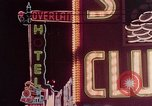 Image of neon signs of Las Vegas casinos and hotels Las Vegas Nevada USA, 1958, second 25 stock footage video 65675072081