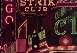 Image of neon signs of Las Vegas casinos and hotels Las Vegas Nevada USA, 1958, second 27 stock footage video 65675072081