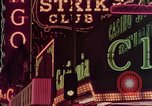 Image of neon signs of Las Vegas casinos and hotels Las Vegas Nevada USA, 1958, second 28 stock footage video 65675072081