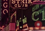 Image of neon signs of Las Vegas casinos and hotels Las Vegas Nevada USA, 1958, second 29 stock footage video 65675072081