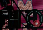 Image of neon signs of Las Vegas casinos and hotels Las Vegas Nevada USA, 1958, second 30 stock footage video 65675072081