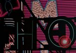 Image of neon signs of Las Vegas casinos and hotels Las Vegas Nevada USA, 1958, second 31 stock footage video 65675072081