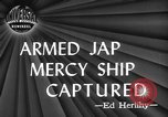 Image of Japanese mercy ship South Pacific Ocean, 1945, second 5 stock footage video 65675072160