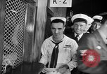 Image of released sailors Long Beach New York USA, 1945, second 21 stock footage video 65675072162