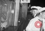 Image of released sailors Long Beach New York USA, 1945, second 22 stock footage video 65675072162